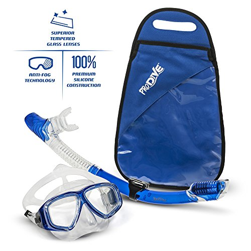 Dry-Top Snorkel (100% No Water Leak) & Diving Mask Set
