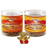 Chocholik Dry Fruits - Almonds Tandoori Masala & Lemon Pepper With Small Ganesha Idol - Diwali Gifts - 2 Combo...