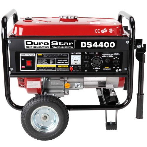 511dQHZ4FtL. SL500  DuroStar DS4400 4,400 Watt Gas Powered Portable Generator With Wheel Kit