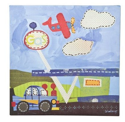 Oopsy Daisy too Transportation Country Wall Art - 10x10""