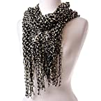 Black and Cream Eyelash Scarf