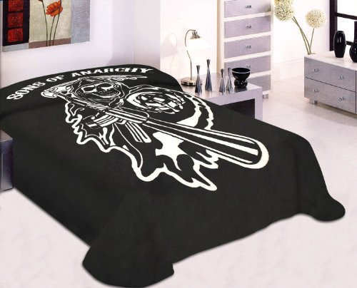Sons Of Anarchy Reaper Blanket- Soft Plush Thick,