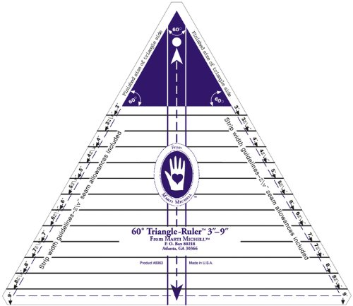 Marti Michell 3-Inch-to-9-Inch 60 Degree Triangle Ruler