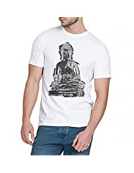 Chillum Men's Cotton T-shirt White - B00R9EPW1W