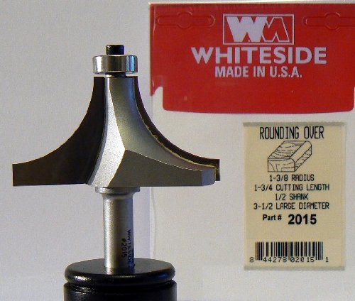 Whiteside Router Bits 1420 Round Nose Bit with 3//8-Inch Radius 3//4-Inch Cutting Diameter and 2-Inch Cutting Length