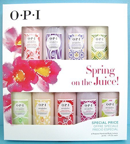 OPI Spring on the Juice! Avojuice Gift Set (Peony & Poppy, Violet Orchid, Vanilla Lavender, Sweet Lemon Sage, Coconut Melon, Mango, Cran & Berry, Jasmine, Ginger Lily)