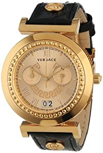 Versace Women's VA9050013 Vanity Chrono Rose Gold Ion-Plated  Stainless Steel Big Date Chronograph Watch