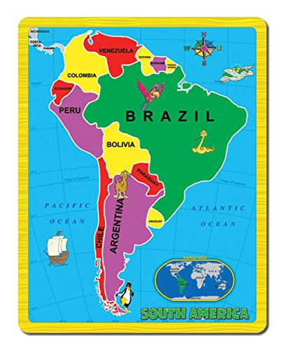 Continent Puzzle - South America (15 Piece) - 1