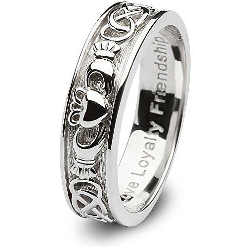 Ladies-Claddagh-Wedding-Ring-SL-SD8-Made-in-Ireland
