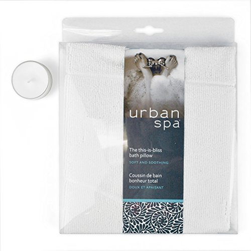 Urban spa microfiber bath pillow for ultimate relaxation perfect size for any bath tub home - Relaxing japanese bathroom design for ultimate relaxation bath ...