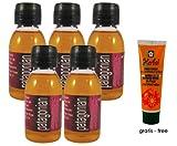 Set di cinque (5) bottiglie di Puro Olio di Rosa Mosqueta Patagonia totale 200ml extra vergine (100 ml ciascuna) Prodotto in Patagonia, confezionato in Spagna, biologico, puro al 100%, prima spremitura a freddo.
