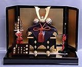 【新作】【五月人形】兜平飾り【武久】長鍬朱赤【8号】金沢箔屏風k1s2【兜飾り】