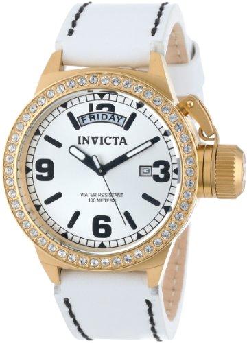 Invicta Women's 12967 Corduba Silver Dial White Leather Watch