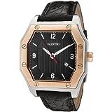 Valentino Men's V39LBQ9509-S009 Prestige Black Textured Dial Black Crocodile Watch