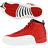 Nike Mens Air Jordan 12 Retro Gym Red Gym Red/White-Black Leather