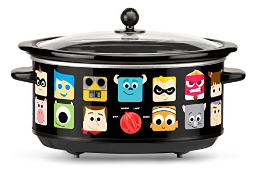 Disney Pixar Oval Slow Cooker, 7 quart, Black (Variable Temperature Slow Cooker compare prices)