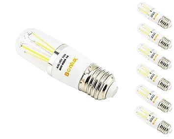 【クリックで詳細表示】Bonlux 管状 T10 LED 電球 バルブ E26 口金 4W 6個入 電球色 AC95-130V AC 360°発光: ホーム&キッチン
