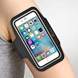 iPhone 6S Armband, Trianium ArmTrek Sports Exercise Armband for Apple iPhone 6 | iPhone 6S Case Running Pouch Touch Compatible Key Holder [Black] [Lifetime Warranty] Good for Hiking,Biking,Walking