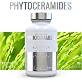 Pure Phytoceramides 100% Organic - Vegan, Gluten Free 40 mg Rice Ceramides The All-Natural Anti-Aging Skin Care System That Promotes Healthy Skin, Nails & Hair with Safe Vitamin D,A & C Support 90 capsules