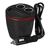 COOSA-150W-Chargeur-en-forme-de-tasse-pour-voitures-Adaptateur-Alume-cigare-avec-2-Prises-de-sortie-et-4-ports-de-charge-USB