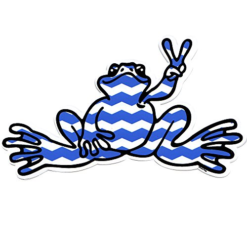 peace-frogs-chevron-frog-sticker-blue-by-peace-frogs