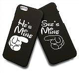 (AFROMARKET) iPhone7 ペアケース シェル型カバー 2個セット (8. iPhone7ブラック×黒×白)
