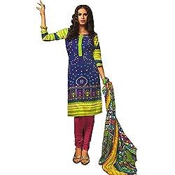 Yati Cotton Printed Patiala Dress Material