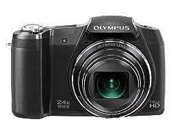 OLYMPUS デジタルカメラ STYLUS SZ-16 1600万画素CMOS 光学24倍ズーム 広角25mm ブラック SZ-16 BLK
