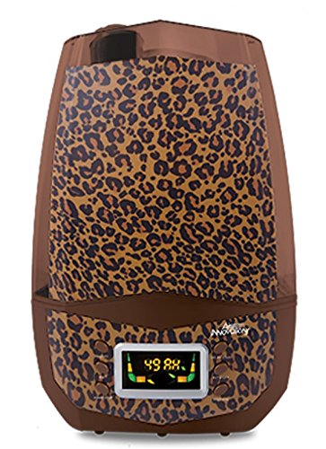 Air Innovations Clean Mist Smart Ultrasonic Humidifier 80 Hour Run Time Model MH-512 Leopard