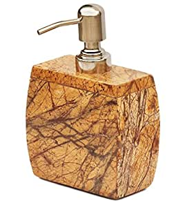 Souvnear 17 3 cm marble soap dispenser with easy aluminum for Brown marble bathroom accessories