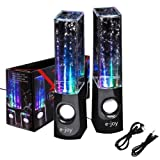 e-Joy® Black Water Dancing Speaker and Dancing Water Speakers Music Box Speakers for PC Laptop, MP3, MP4, Cell Phone, iPhone 6, iPhone 6s ) iPod, iTouch, Samsung S2 S3 S4 S5 Kindle, Blackberry Q10 Z10 /Desktop Computer and All 3.5mm Audio Player