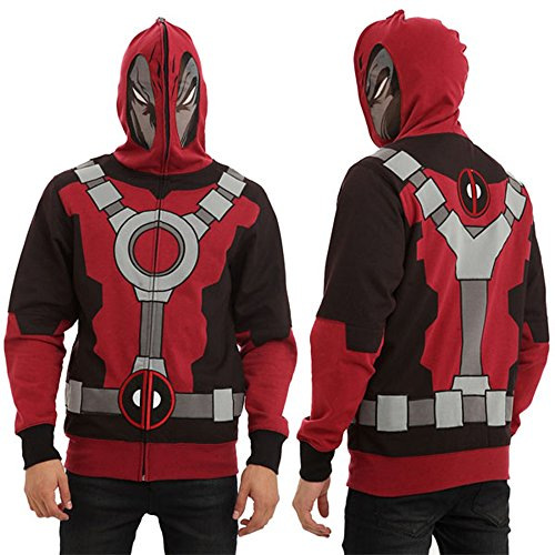 Mens Deadpool Hoodie Marvel Comics