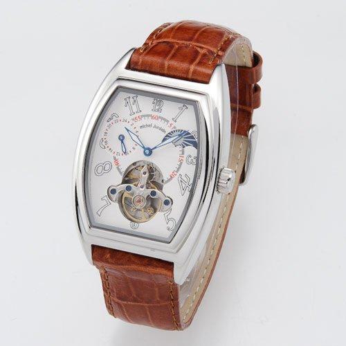 [ミッシェルジョルダン【メンズ腕時計ブランド】]michel Jurdain 腕時計 自動巻き トノー皮 EG5312-2 メンズ 【正規輸入品】
