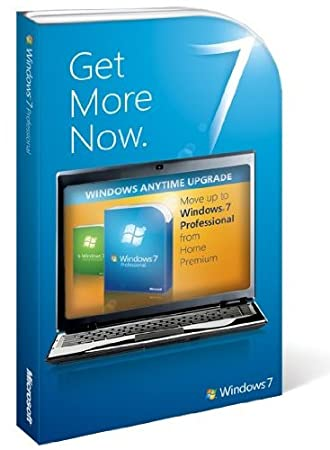 Microsoft Windows 7 Anytime Upgrade, Home Premium to Professional (License only)