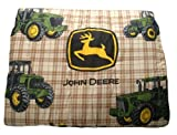 John Deere Bedding Traditional Tractor and Plaid Collection Comforter Twin Size