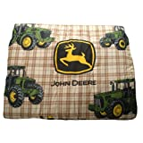 John Deere Bedding Traditional Tractor and Plaid Collection Comforter, Twin Size