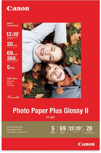 Canon Photo Paper Plus Glossy II, 13 x 19 Inches, 20 Sheets (2311B026)