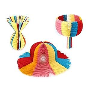 Amazon.com - Handmade Colorful Paper Foldable Honeycomb Hat Flower