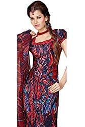 Variation Women's Red Jacquard Unstiched Dress Material (VD11970)