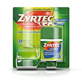 Zyrtec 24 Hour Allergy Relief Tablets, 10 mg Cetirizine HCl Antihistamine Allergy Medicine, 70 ct