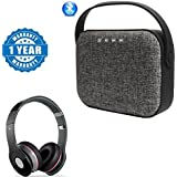Captcha Nextbit Robin Compatible Certified Universal Bag Style Wireless Bluetooth Speaker Micro SD & USB Support With S450 Foldable On-ear Wireless Stereo Bluetooth Headphone (1 Year Warranty)