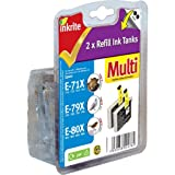 Inkrite Ng Printer Ink Twin Pack Black Refill Tank For T071x, T080x, T079x - NGRE1BTWINUby Inkrite