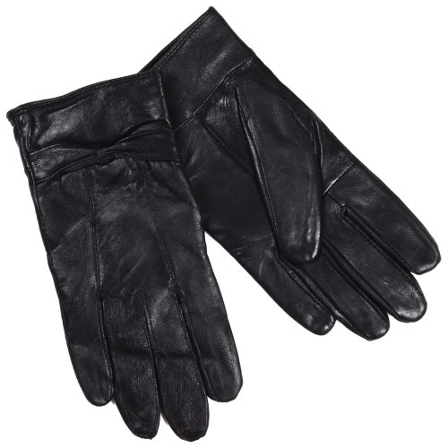 rjm-ladies-lined-black-sheepskin-leather-gloves-with-bow-size-s-m