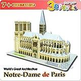 【3Dパズル】 ノートルダム大聖堂 パリ/フランス
