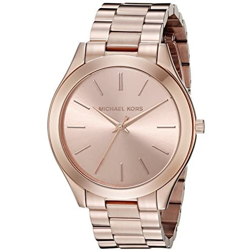 Michael Kors Slim Runway M.KORS-MK3197 42mm Stainless Steel Case Rose Gold Gold Plated Stainless Steel Mineral...