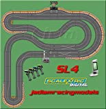 JADLAM RACING SCALEXTRIC DIGITAL SET SL4 LAYOUT 4 CARS PITLANE
