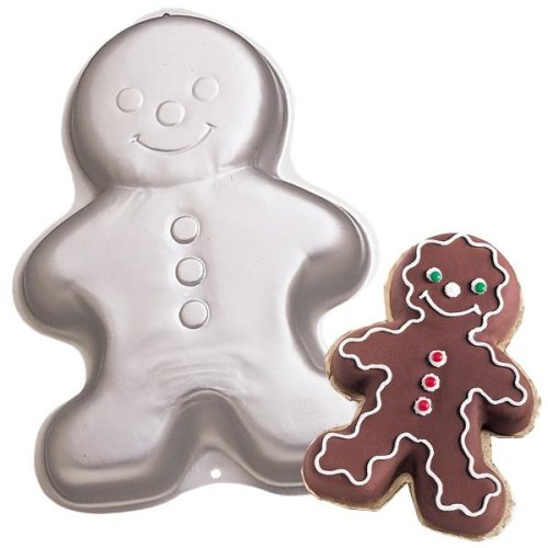 Wilton Gingerbread Boy Ginger Bread Girl Christmas Holiday Snowman Clown Cake Pan Mold (2105-3313, 1998)