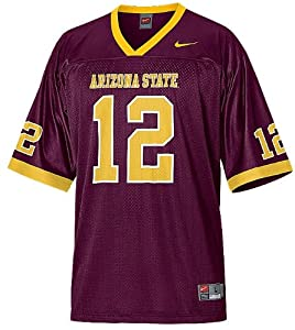 Arizona State Sundevils #12 Mens Home College Replica Football Jersey By Nike Team... by Nike