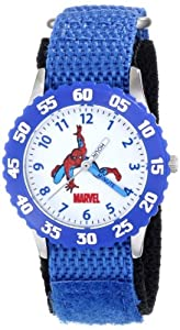 Marvel Comics Kids' W000103 Spider-Man Stainless Steel Time Teacher Watch