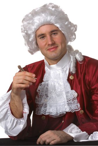 Colonial Man White Costume Wig